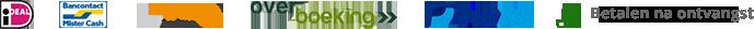 Betalingsmogelijkheden: Ideal, Bankcontact, Sofort, Overboeking, Paypal en Betalen na ontvangst